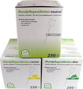 Mundpflegestäbchen Zuckerfrei Mundreinigung Hygiene Mundpflege mit Geschmack