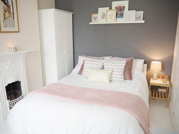 pink grey bedroom makeover