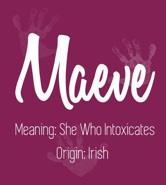 Maeve - Predicting the Most Popular Girl Baby Names for 2017 - Photos