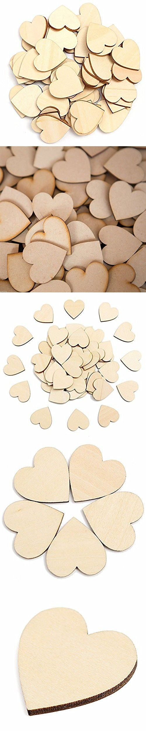 Wedding ornaments - Fenical Wood Discs 6cm Heart Wood Diy Slices Natural Birch Tree For Wedding Christmas Ornaments 50pcs