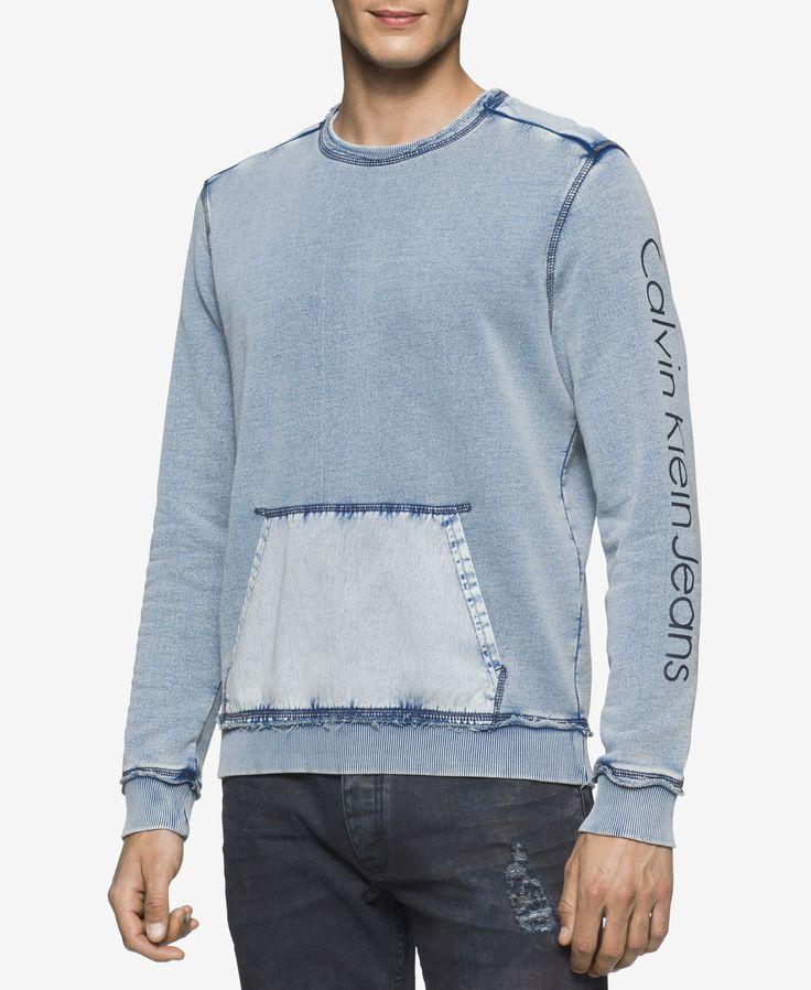 Calvin Klein Jeans Men's Washed Pocket Sweatshirt
