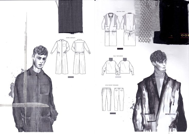 Fashion Sketchbook - fashion design drawings; fashion student portfolio // Katarina Lindell