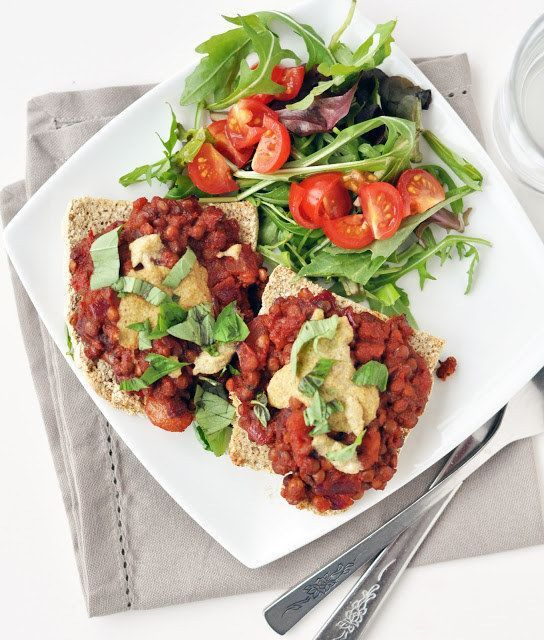 393 calories and 27 grams of protein.  Lentil Sloppy Joes   22 High-Protein Meatless Meals Under 400 Calories