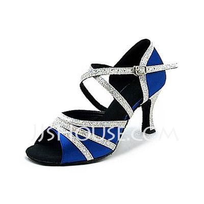 Dance Shoes - $31.99 - Women's Satin Sparkling Glitter Heels Latin Ballroom Dance Shoes (053013164) http://jjshouse.com/Women-S-Satin-Sparkling-Glitter-Heels-Latin-Ballroom-Dance-Shoes-053013164-g13164