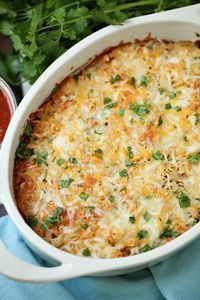 Chicken Taco Casserole - Easy family dinner casserole recipe. Delicious, too. Kids loved it and I could eat quite a bit since it's Weight Watchers friendly.
