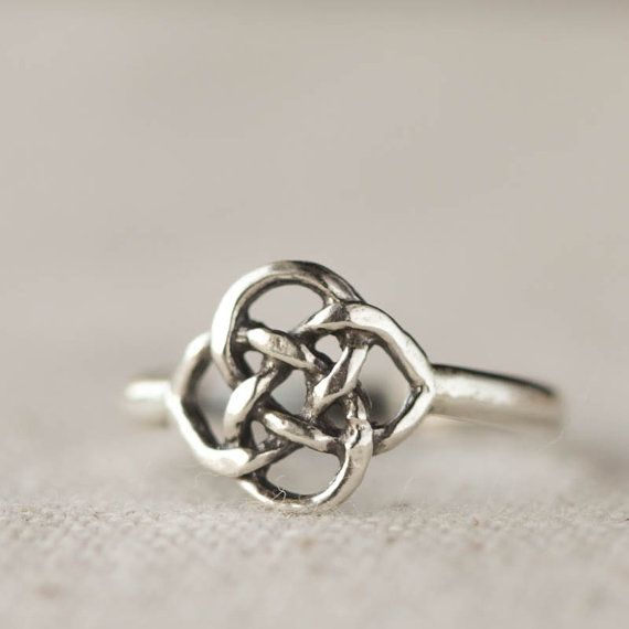 Celtic Knot Ring  Sterling Silver Ring Casual Jewelry by 36ten
