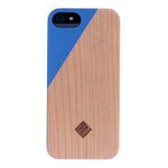 CLIC Wooden iPhone 5/5S Case Blu, $39.99, now featured on Fab.