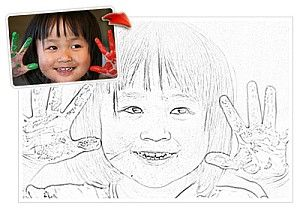 Here's a fun one for the kids!  Create a colouring page using your own photo! Thanks, Anita...