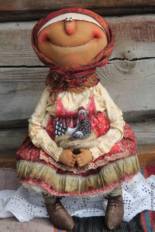 Купить Курочка Ряба - разноцветный, текстильная кукла, ароматизированная кукла, интерьерная кукла, курочка