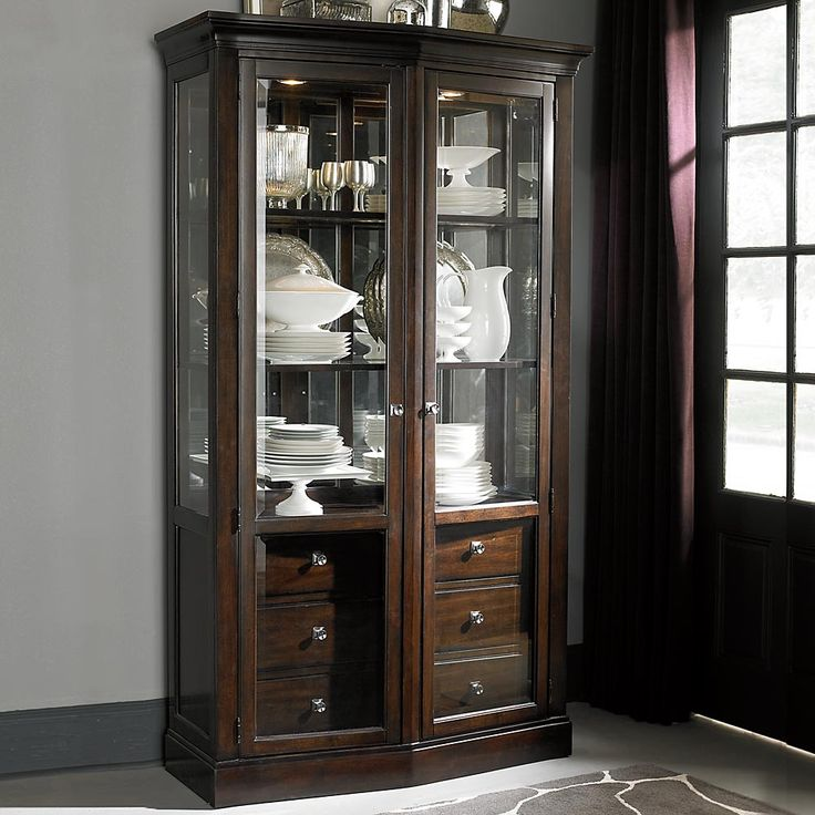 Bassett Cosmopolitan China Cabinet Available At Hickory Park Furniture Galleries