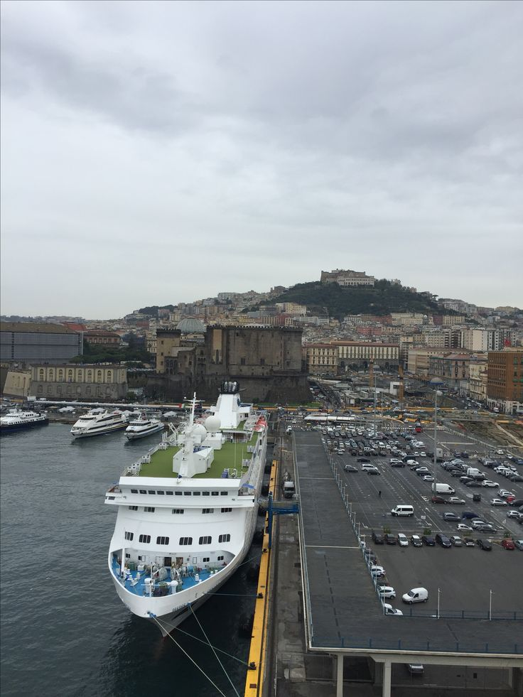 The cruise port of Naples