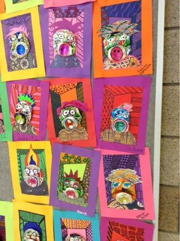 Art at Becker Middle School: Picasso Pop Can Portraits- More to see!