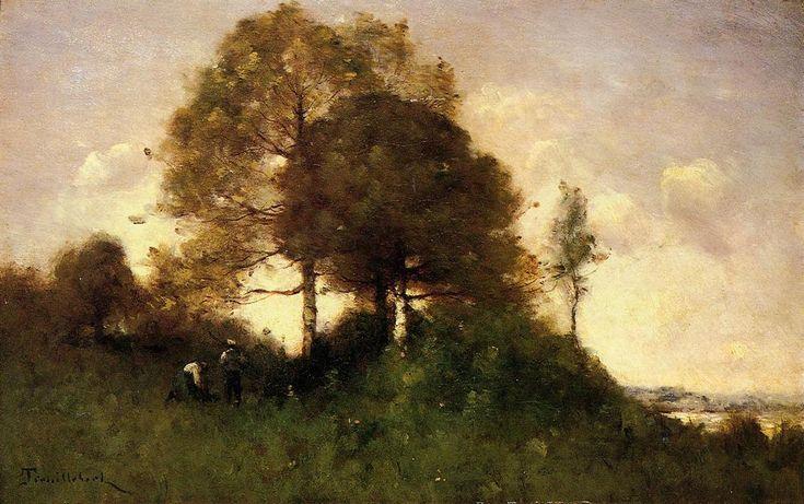 Ramasseurs Faggot, huile sur toile de Paul Désiré Trouillebert (1829-1900, France)
