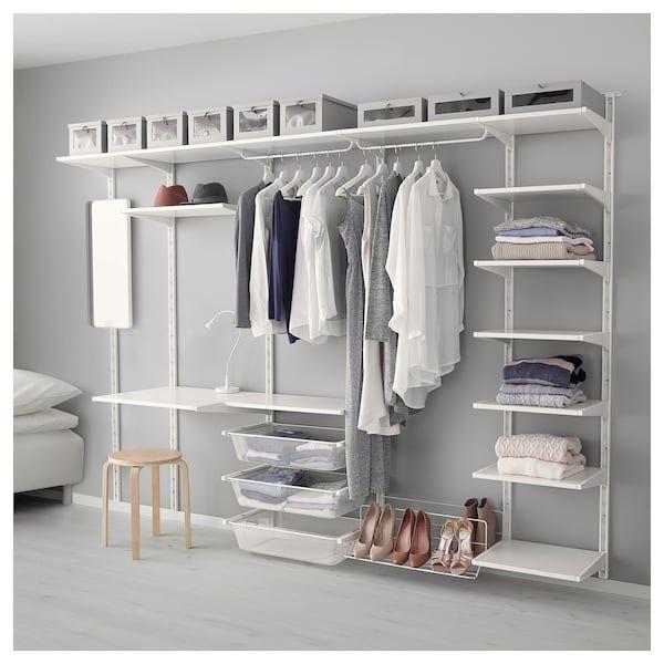 Algot Vaggskena Hyllplan Vit Ikea Ikea Closet Ikea Bedroom