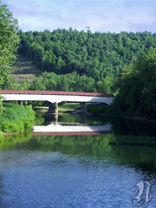 Covered Bridge over Tygart Valley River - Philippi, WV