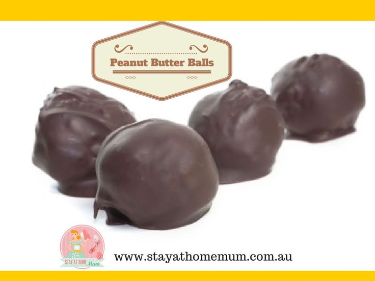 peanut butter balls | stay at home mum