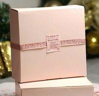 FREE SHIPPING pink gift packaging cardboard gift box12cm*12cm*4.5cm