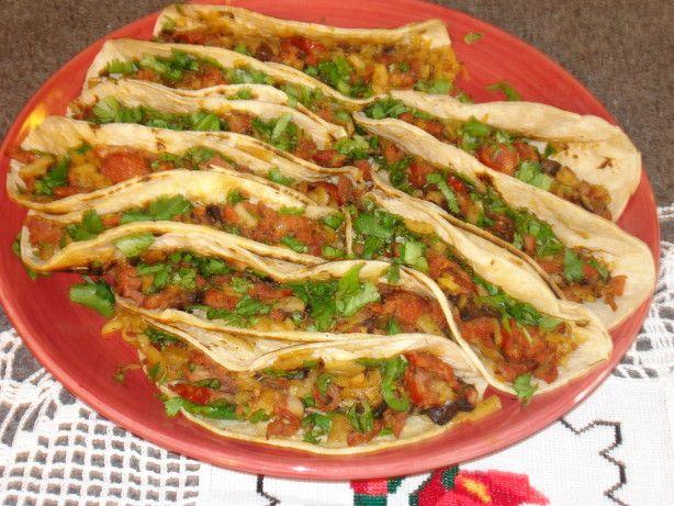 Chorizo, Potato, And Mushroom Tacos Recipe - Food.com  This is a Rick Bayless, Mexican Made Easy recipe. So good!!!