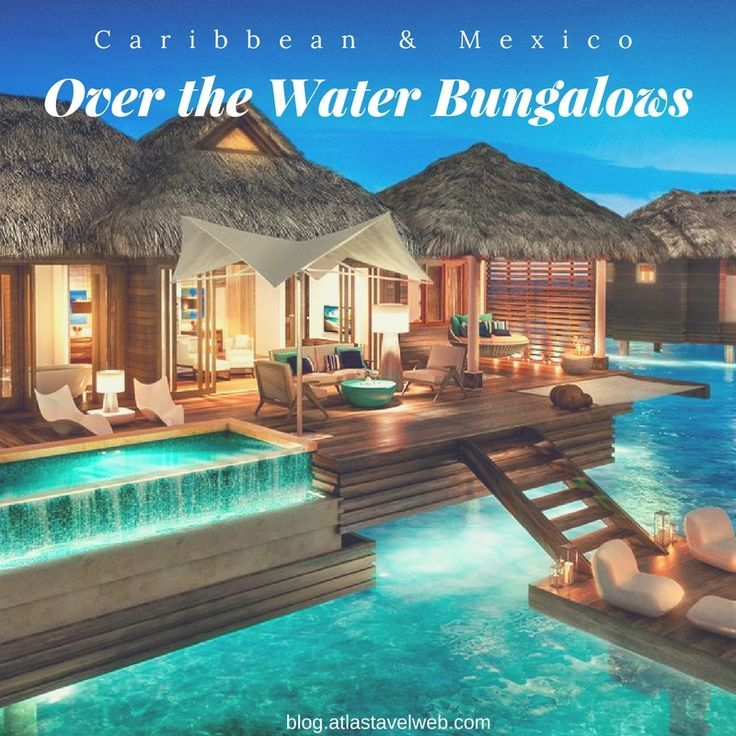 Over The Water Bungalows In The Caribbean