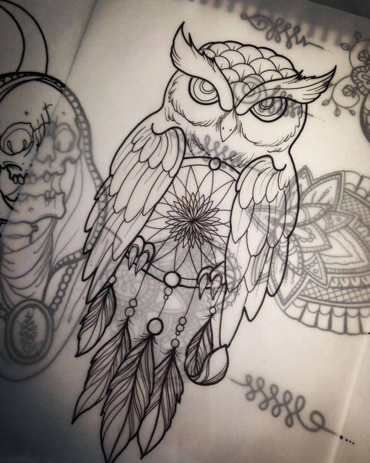 a dream catcher owl