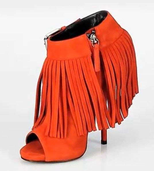 99.00$  Buy here - http://alirov.worldwells.pw/go.php?t=32443100876 - Round Open Toe Ankle Boots Woman Tassel Orange Solid Thin High Heels Big Buckle Zip Plus Size Suede Ladies Shoes Handmade Casual