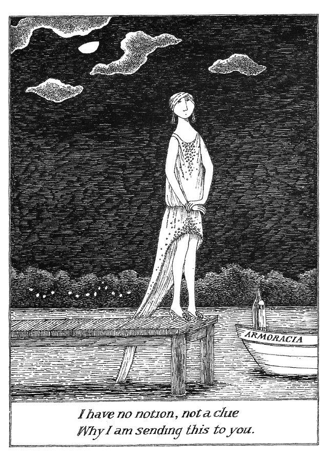 : Books, Art Gorey, Inspiration, Art Edward Gorey, Artwork Illustrations, Gorey Postcard, Gorey Illustrations