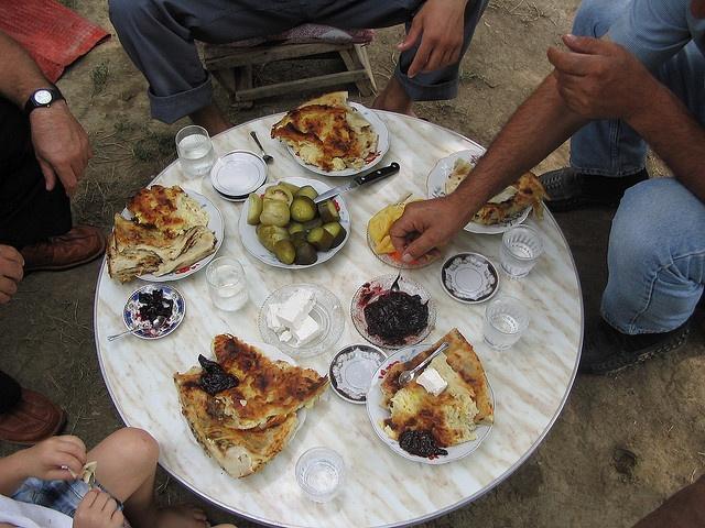 Albanian Dinner table | Traditional Albanian Food | Pinterest