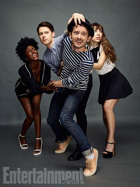 Comic-Con 2016 Star Portraits: Day 3 | Jade Eshete, Samuel Barnett, Elijah Wood, and Hannah Marks, 'Dirk Gently' | EW.com