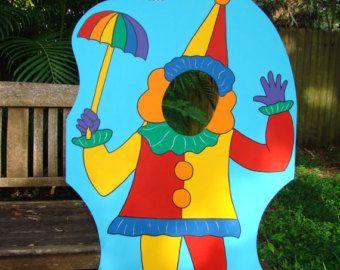 Circo o Carnaval payaso temática apoyos de la por BlueGardenias