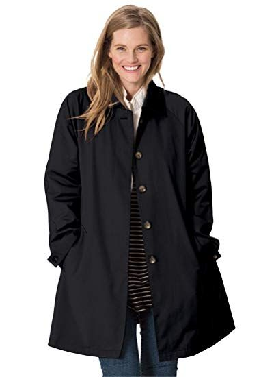 bb382c0e5aa New Woman Within Plus Size Water-Resistant A-Line Raincoat online.   50.99