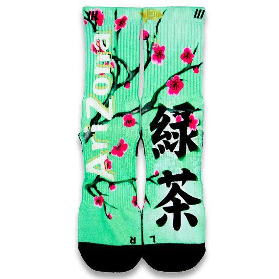 Arizona Green Tea Customize Elite Socks by CustomizeEliteSocks