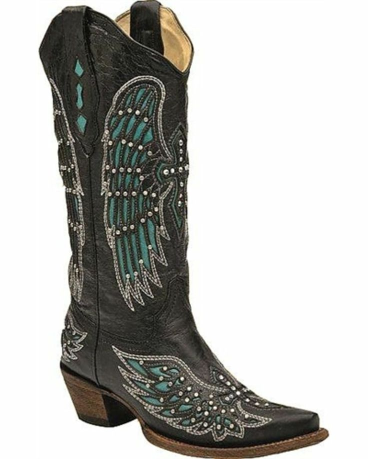 Wonderful Womenu0026#39;s Corral L5104 Circle G Brown Turquoise Cross Wing Cowgirl Western Boots | EBay