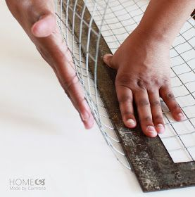 How to make wire baskets, like the ones at Pottery Barn