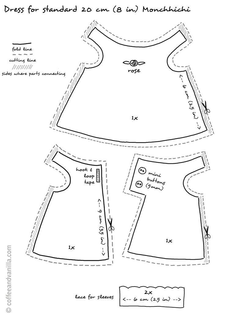 Bildergebnis für Free Printable Doll Clothes Patterns