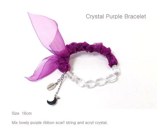 Crystal Purple Bracelet  summer limited item. by Myfunny on Etsy, $23.67