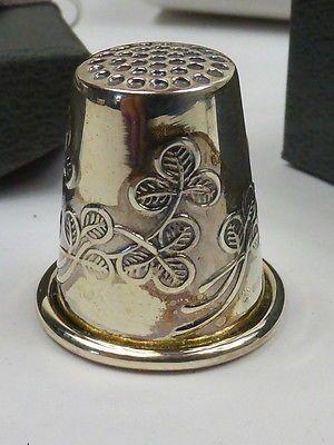 Sterling Silver Irish Shamrock Thimble