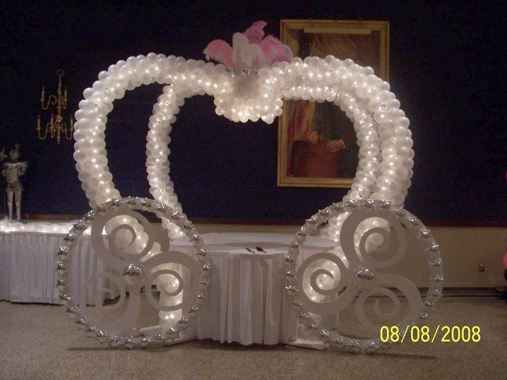 cinderella carriage for the cake table