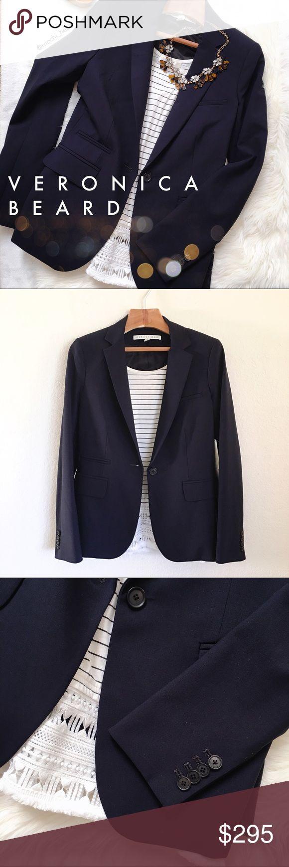 Veronica Beard classic navy blazer Dark navy blazer by Veronica Beard in a classic silhouette. Well made and very sophisticated. Veronica Beard Jackets & Coats Blazers