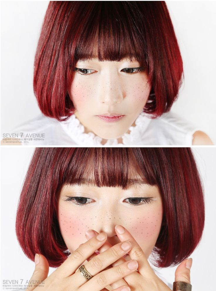 #purplered #haircolor #towtonehair #헤어 #여자헤어 #sevenavenue #세븐에비뉴