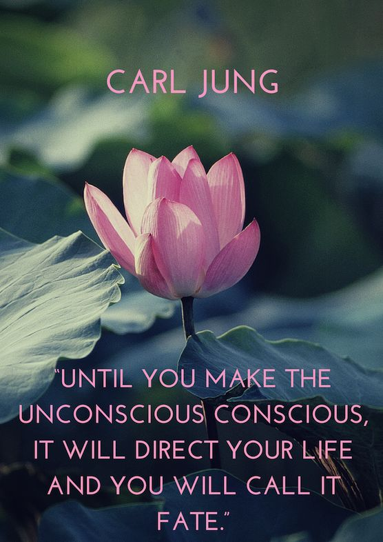"""Until you make the unconscious conscious, it will direct your life and you will call it fate."" http://sumo.ly/27r2"