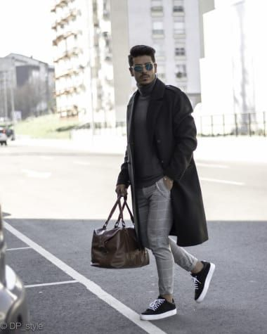 Casual Outfit from dp_style with ASOS Coats, Paul Smith Sweaters, TOMMY HILFIGER Tote Bags, Pt01 Pants, Axel Arigato Sneakers