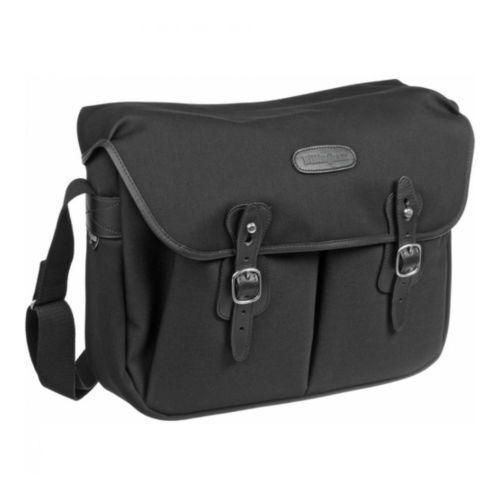 [Billingham] Hadley Large Black Canvas Black Leather Brass Camera Shoulder Bag