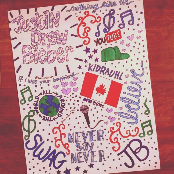 Justin Bieber Collage Art by samonstage on Etsy, $5.00