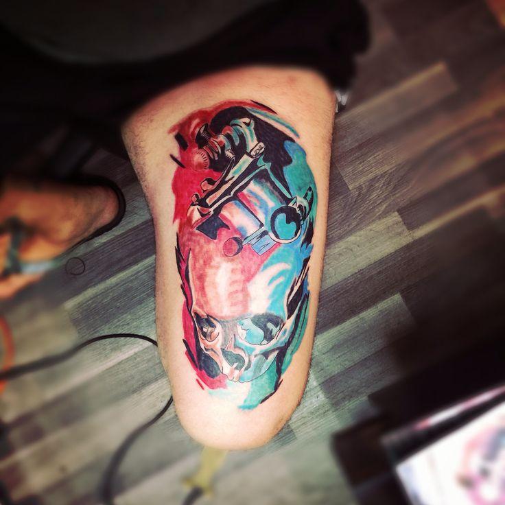 Kendime Yaptihim Calisma Water color Tattoo