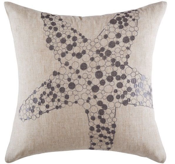 Cushion cover kas size 50 x 50cm square starfish natural design bobin boutique A