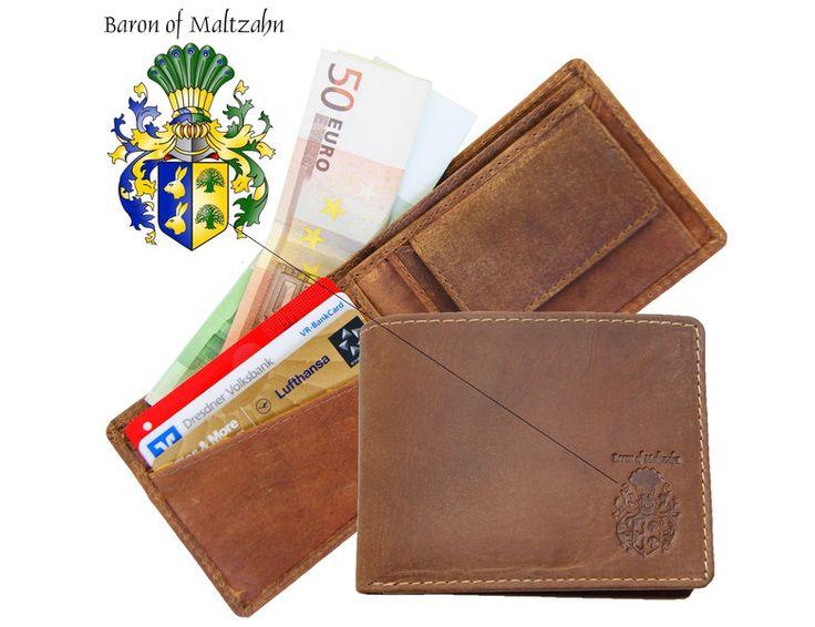 Geldbörsen - Geldbörse Portemonnaie MIDI für Herren aus Leder - ein Designerstück von Ledertaschenshop24 bei DaWanda