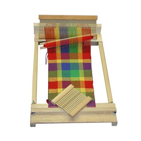 Our beautiful, natural maple wood Beginner's Weaving Loom is perfect for the beginner weaver! Beka rigid heddles provide the weaver with an easy and reliable me
