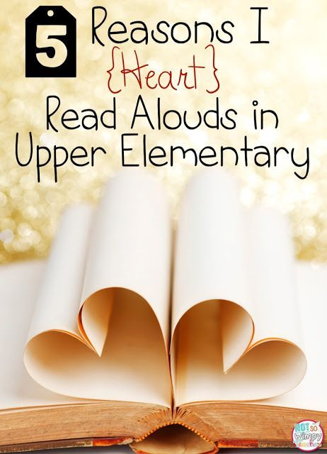 Diary of a Not So Wimpy Teacher: 5 Reasons I {HEART} Read Alouds in Upper Elementary. A day doesn't go by in my classroom when I don't take time to read to my third graders!