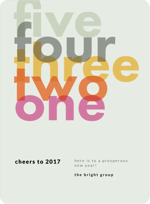 Final Countdown New Year Cards in 2021 Minimalist