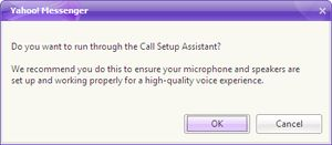 Want to make free PC-to-PC calls on Yahoo Messenger?  Yahoo Messenger users can now make unlimited, free PC-to-PC calls to all their favorite Yahoo Messenger contacts.: Running the Yahoo! Call Assistant